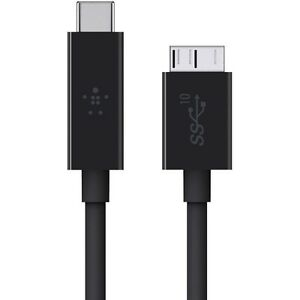 20b339633d7 Belkin USB 3.1 Type C to Micro B 1m Cable - Black for sale online | eBay