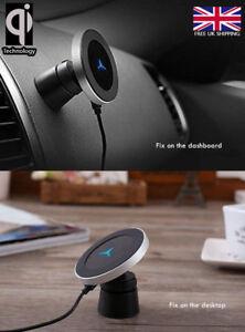 2-en-1-Qi-Magnetico-Inalambrico-Cargador-de-Coche-Escritorio-Samsung-S9-Iphone