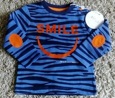 SMILE BY JULIEN MACDONALD NEW BABYS CUTE T SHIRT AGE 9/12  MONTHS TIGER STRIPED