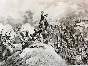 Napoléon Bonaparte Empire bataille napoléonienne prise d'une Redoute XIX 1837