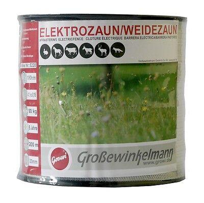 Gutherzig Growi Varioline 20 Mm Breitband 2 X 200 M *2er Pack* Weidezaunband Elektrozaun