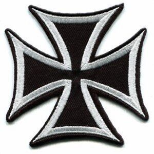 Maltese-Iron-Cross-Embroidered-Biker-Patch-Iron-On-Sew-On