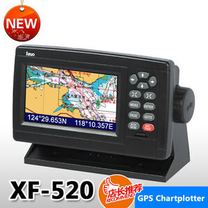 Inch Color LCD Marie GPS Chart Plotter XF Free Xinuo Map C - Map plotter free