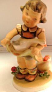 Vintage-Lefton-Three-Friends-Figurine-Girl-with-White-Ducks-1110