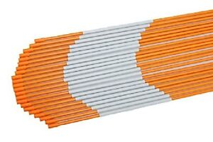 20x Driveway Markers Snow 5/16Inch x6ft Long Orange Reflective Markers Hollow