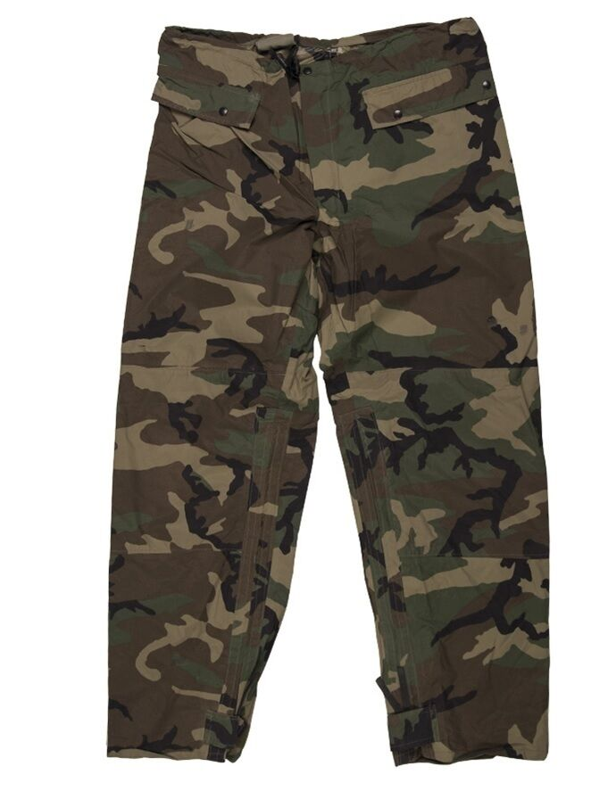 US Army Pantaloni Woodland Camouflage WCP Wet Weather Rain Pants Pantaloni Army regolamenta Pantaloni SMALL 7d547c