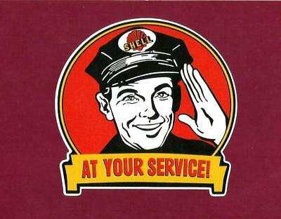 "MOBIL /""AT YOUR SERVICE/"" VINYL DECAL STICKER PROMO PETROL OILS GAS Ford Holden VW"