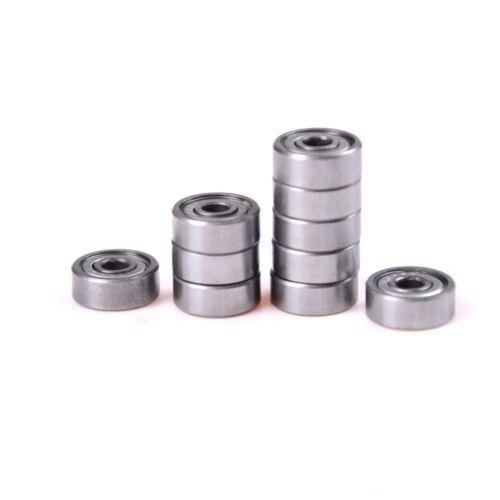 10Pcs//set Metal 606ZZ Miniature Deep Groove Shielded Ball Bearings 6*17*6 mCE