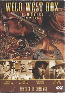 new - Wild West DVD Box - 4 movies 2 disc Robert SHAW B
