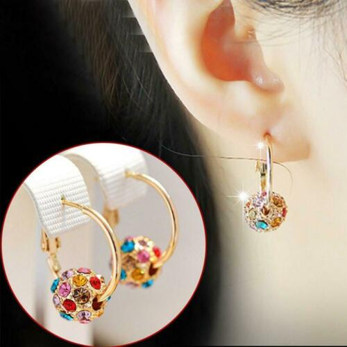 Fashion Crystal Ball Colorful Earrings Lucky Transfer Beads Jewelry Party Decor