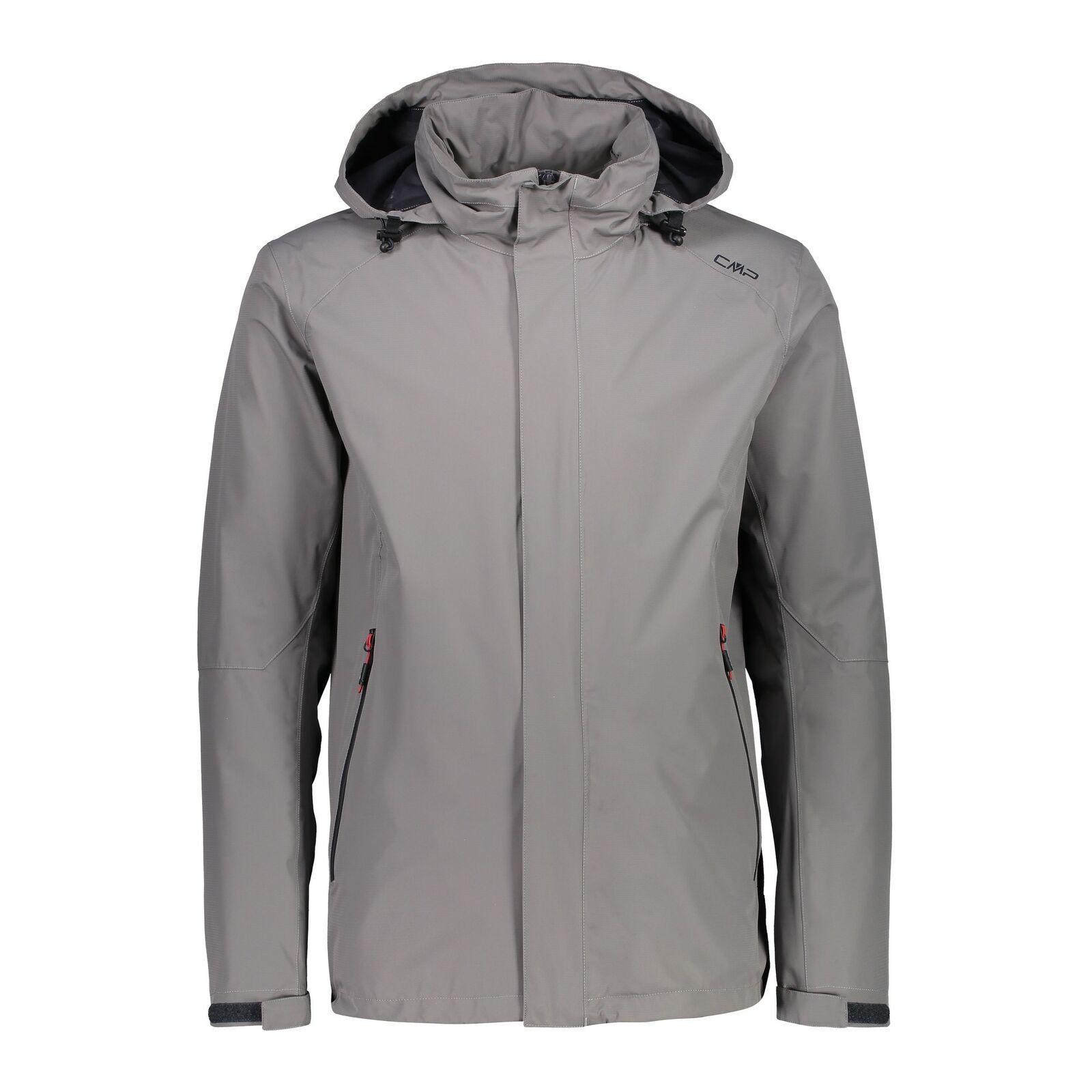 CMP hidrófuga chaqueta  Man Jacket ZIP Hood marrón viento densamente impermeable monocromo  a la venta