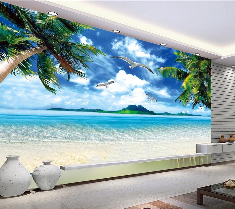 3D Bule Sky Sea Birds 514 Paper Wall Print Wall Decal Wall Deco Indoor Murals