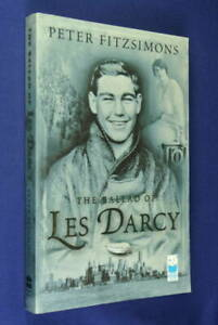 Signed-Book-THE-BALLAD-OF-LES-DARCY-Peter-Fitzsimons-AUSTRALIAN-BOXER-WWI