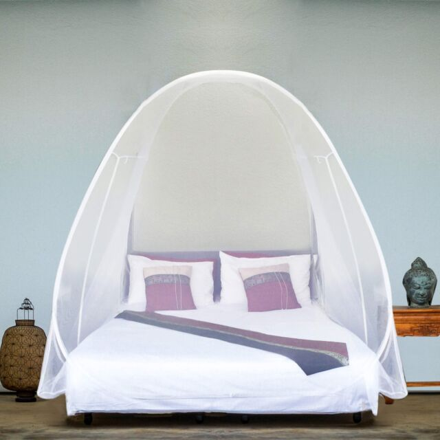 EVEN Naturals Luxury Pop Up MOSQUITO NET Tent Large for Twin to King Size Bed,