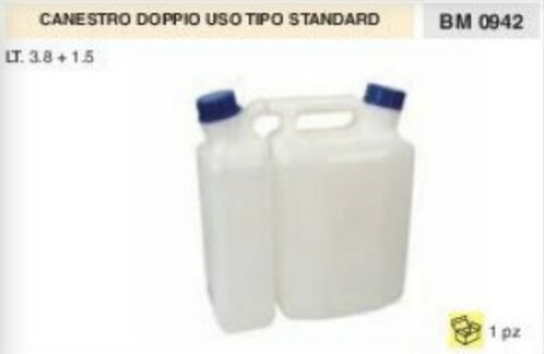 BIDONE MISCELA BENZINA OLIO doppio uso 3,8 L 1,5 L gasolio nafta olio