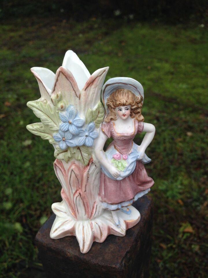 Smuk lille vintage figur-vase, 1930'erne