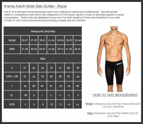 Arena Men/'s Carbon Air Jammers FINA Swimming Race Competition Tech suit Blue