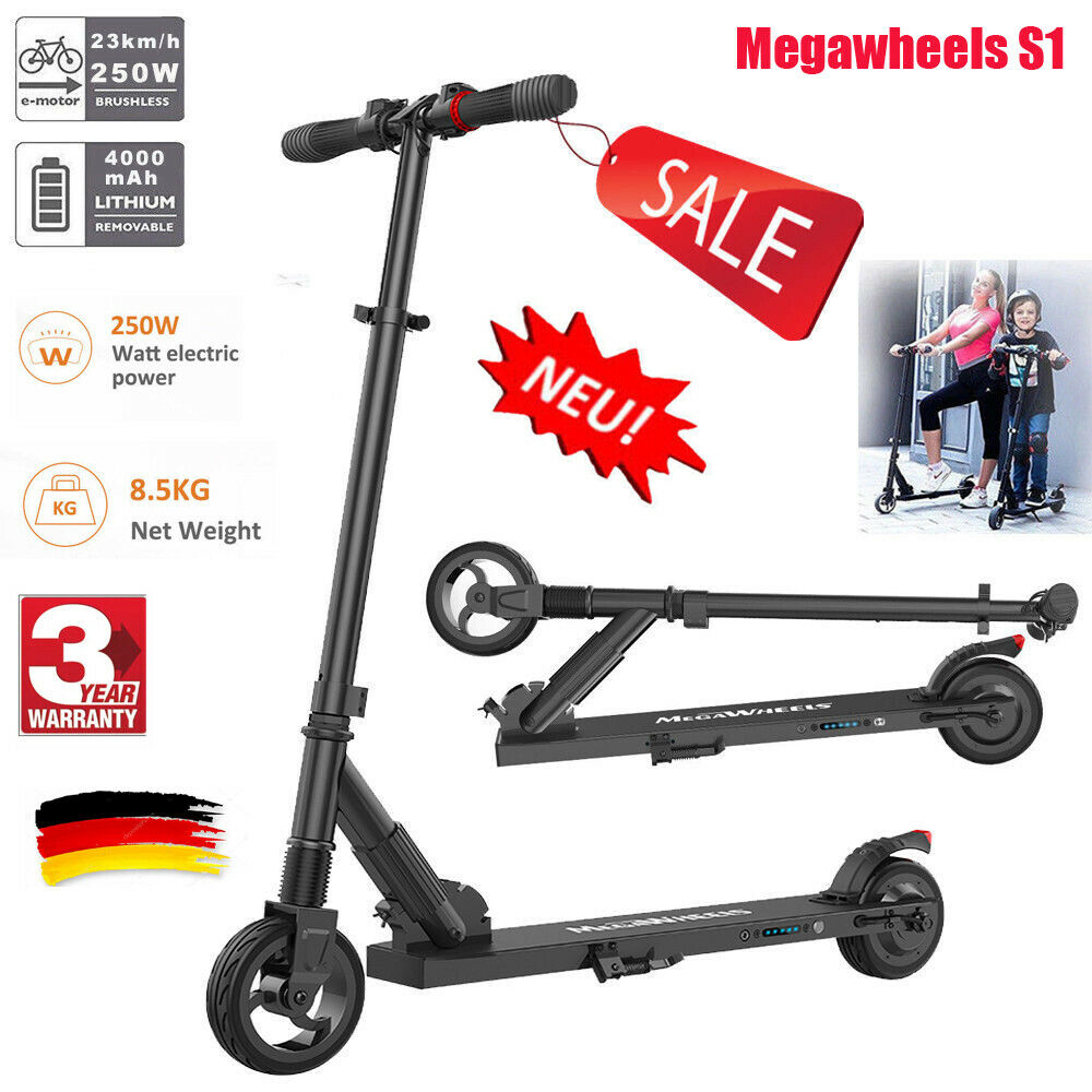 S1 Faltbar Megawheels Megawheels Megawheels ElektrGoldller Electro E-Scooter 250W City Roller 23km h f35acf