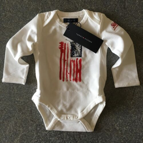 Tommy Hilfiger White Baby Body Grow BNWT 3-6m 6-9m 9-12m Designer Infant Romper