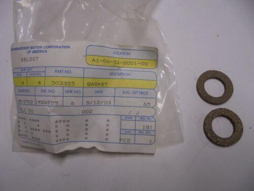 Genuine Evinrude Johnson OMC Gasket #303355 New Pkg of 2