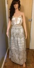 Temperley London Long Maxi Pearl Skirt Size 8 S Silver BNTW RRP £895