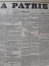 01/06/1871 JOURNAL ORIGINAL  LA PATRIE     COMMUNE DE PARIS SIEGE