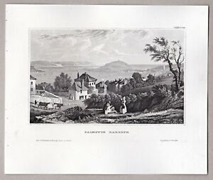 Falmouth-Harbour-in-Cornwall-Grafik-Stich-Stahlstich-um-1855