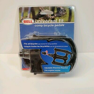 BELL SPORTS Universal Bike Pedals w// Reflectors Composite Material 7025227 New