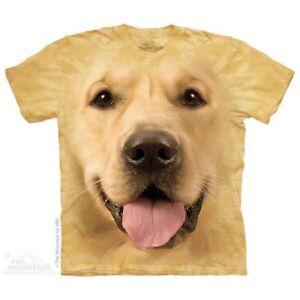 The-Mountain-Brand-Big-Face-Golden-Retriever-Dog-Puppy-T-Shirt-Shirt-Top-Tee