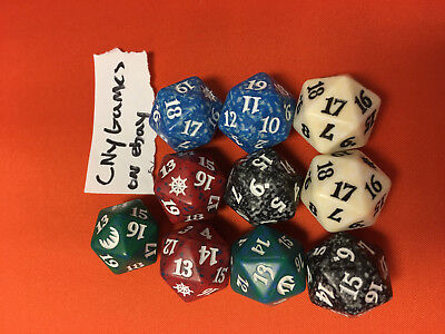 10x 10 dominaria Spindown dice d20 mtg Magic the gathering die CNY