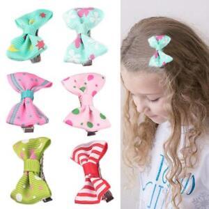 10Pcs-Kids-Baby-Girl-039-s-Bow-Mini-Hairpins-Ribbon-Hair-Bow-Latch-Clips-Hair-Clip