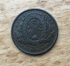 1837 Province of Canada Quebec Bank One Penny Bank Token City Bank Concordi