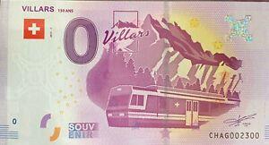BILLET-0-EURO-VILLARS-SUISSE-2017-NUMERO-2300