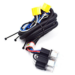 "7"" halogen Ceramic H4 Headlight Relay Wiring Harness 2Headlamp on h4 vs 9003 wiring, heavy duty headlight harness, electrical harness, h4 headlight socket wiring diagram, h4 wiring with diode, h4 headlight wiring details, chevy 2 headlight relay harness, h4 headlight connector 12 gauge, h4 plug wiring ground, automotive wiring harness,"