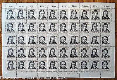 Berlin 654 Kompl. Bogen Peter Beuth Postfrisch Full Sheet Mnh Formnummer 2