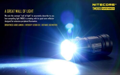 Nitecore TM06S 4000 lúmenes Linterna de 393 yarda con Kit de 3400mAh Premium Cargador