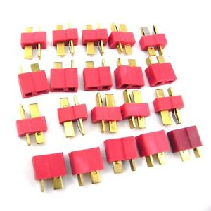 NEW-10-pairs-T-Plug-Male-Female-Connector-Deans-Lipo-Battery-ESC-RC-Helicopter-U