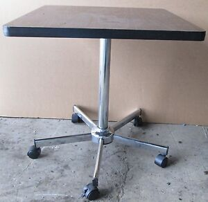 Image Is Loading 3 24 034 SQUARE ROLLING TABLES TABLE FORMICA