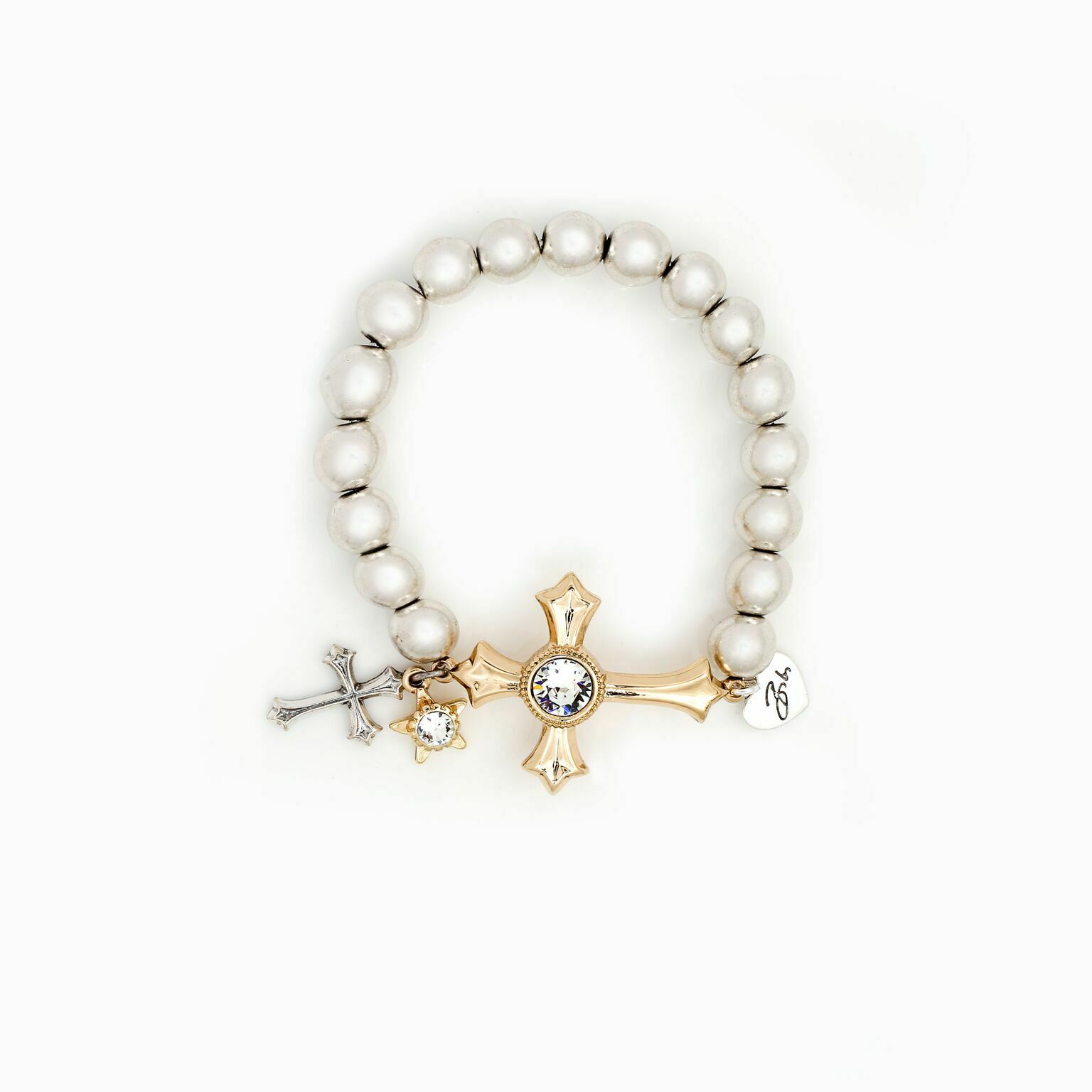 NEW Bibi Bijoux gold Cross charm bracelet