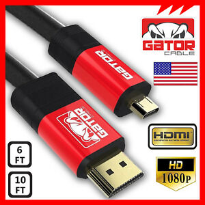 Micro-HDMI-to-HDMI-Cable-Adapter-Converter-4K-GoPro-4-5-HERO-3-HTC-EVO-4G-120Hz