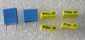 Lot-de-6-condo-MKT-034-1nF-63V-22nF-63V-47nF-100V-22nF-100V-10nF-250V-10nF400V-034