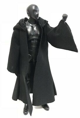 Grey MY-HC-GY 1//12 scale fabric hooded cape for 6 inch Star Wars Black Series