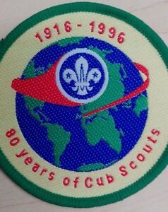 Scout-Badge-80-Years-of-Cub-Scouts-1916-1996-7cm-Round
