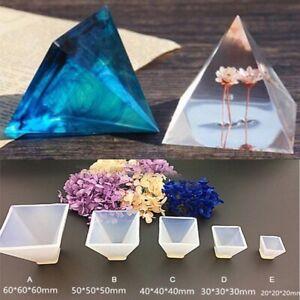 Grosse-Pyramide-Silikon-Form-Resin-Casting-Schmucksachen-die-Form-Form