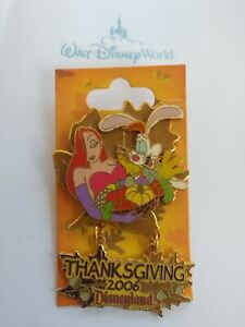 Disneyland-Thanksgiving-2006-JESSICA-amp-ROGER-Rabbit-Disney-WFRR-LE-Pin-DLR