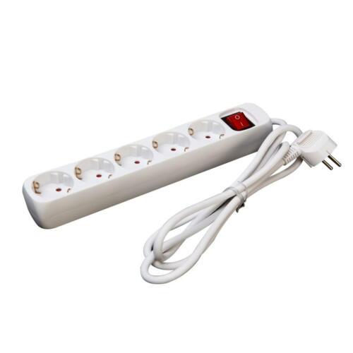 5 fois Multiprise Connecteur Barre Avec Interrupteur Prise Multiple Connecteur