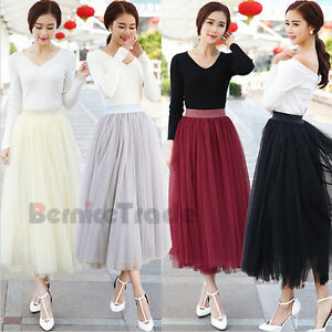 2016-Fashion-Multi-Layers-Skirt-Womens-Tutu-Cocktail-Party-Dresses-Tulle-Skirts