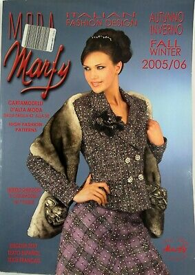 Italian Fashion Magazine Moda Marfy Autumn Winter 2005 06 High Fashion Pattern Ebay