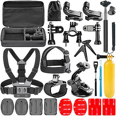 Neewer 21 in 1 Pole Head Chest Mount Strap Kit for GoPro Hero 1 2 3 3+ 4 Sj4000