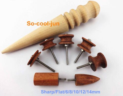 8pc Leathercraft Hardwood Mini Skirt Chaser Burnisher Wood Edge Slicker Tool Set